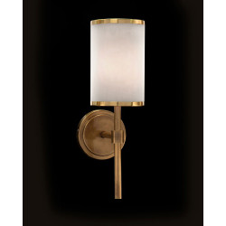 John Richard Brass-Banded One-Light Wall Sconce