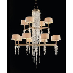 John Richard Cascading Crystal Waterfall Twelve-Light Chandelier