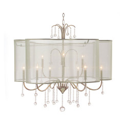 John Richard Antique Parisian Silver Nine-Light Chandelier