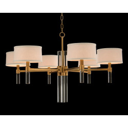 John Richard Glass Rod Six-Light Chandelier