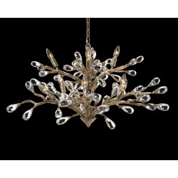 John Richard Budding Crystal Ten-Light Chandelier
