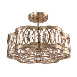 John Richard Diamante Six-Light Semiflush