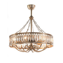 John Richard Marquise Crystal Eight-Light Pendant with Fan