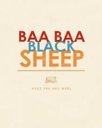 Art Classics Baa, Baa Black Sheep
