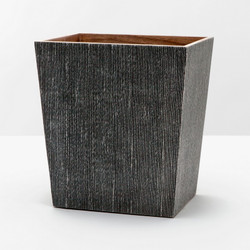 Pigeon & Poodle Bruges Waste Basket Rectangular/ Tapered - Charcoal - Rectangular