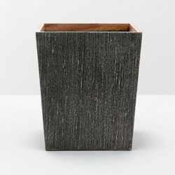 Pigeon & Poodle Bruges Waste Basket Square/ Tapered - Charcoal - Square