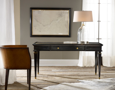 Modern History Ebonized Classicial Writing Desk