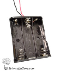 Battery Holder, 3AA, Plastic
