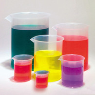 Plastic Beakers, Set of 6