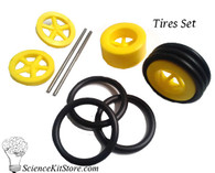 Plastic Wheels, Tires Set