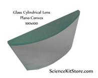 Glass Cylindrical Lens, Plano-Convex 50x50mm FL 100mm