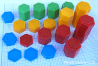 Plastic Weights, Set of 54