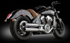 """RCX Exhaust  3.0"""" slip-on mufflers with Rival Shorty Eclipse tips."""