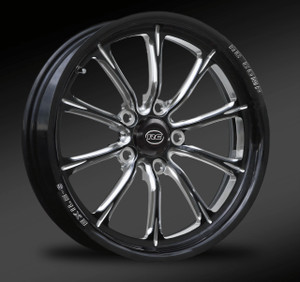 Exile-S, Eclipse cut front drag race wheel.