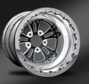 Fusion Eclipse Beadlock Rear Wheel • Fusion Eclipse Center • Polished Outer • Polished Beadlock