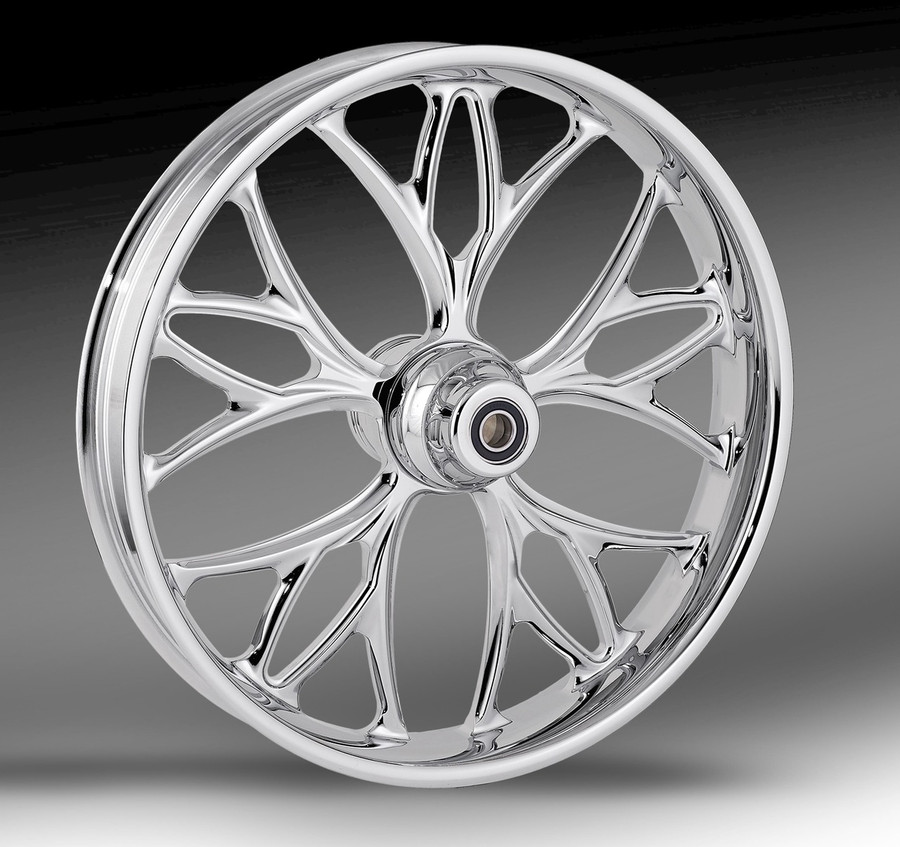 RC Components Kore wheel shown in chrome finish.
