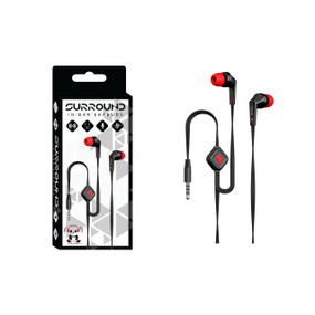 iPanda Surround Flat-Wire In-Ear Headphones with Mic