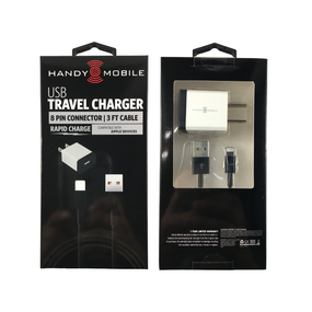 iPanda USB Travel Charger | 8 Pin Connector | 3 Ft Cable