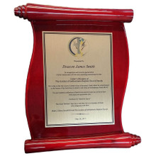 Full Color Scroll Plaque (PL809)
