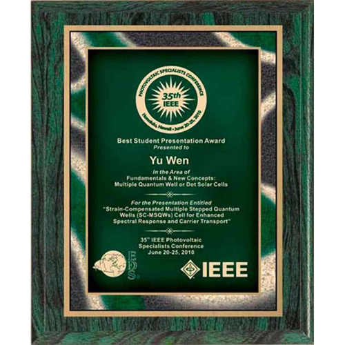 Green Artistic Plaque