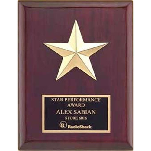 Gabled Points Star Plaque