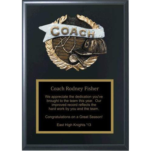 """5"""" x 7"""" Coaches Plaque with Relief"""