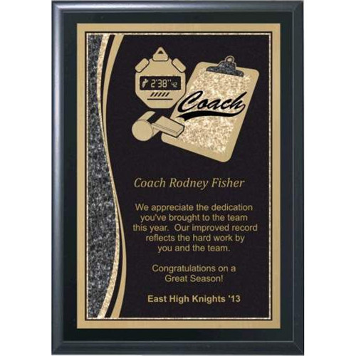 """5"""" x 7"""" Coaches Plaque with Tools"""