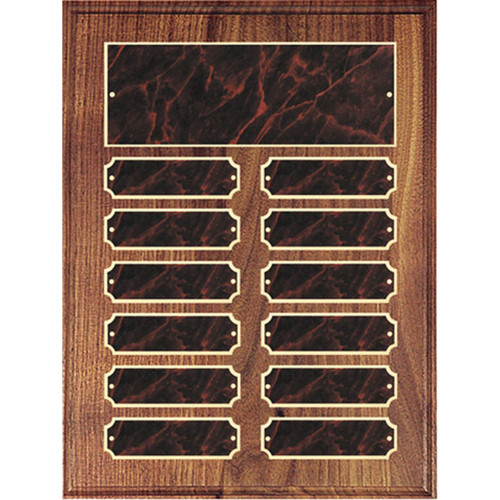 Red Marble Perpetual Plaque