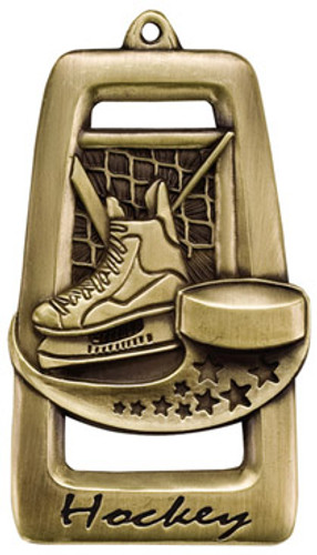 Tall Star Blast Hockey Medal