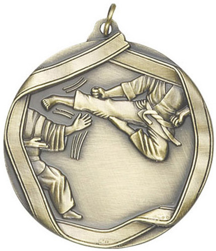 Ribbon Karate Medal