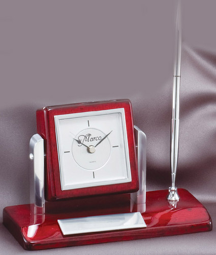 Desk Set w/Clock