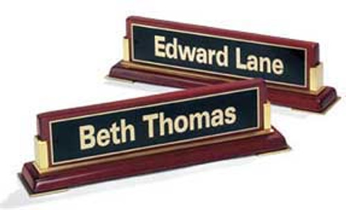 Rosewood Name Plate