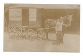 Merchantville, New Jersey Real Photo Postcard:  Perkins Horse-Drawn Dairy Wagon