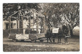 Hermon, Maine Real Photo Postcard:  IOOF Float, 1914 Centennial Parade
