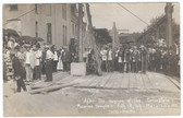 Marshalltown, Iowa Real Photo Postcard:  Masonic Temple Cornerstone Laying