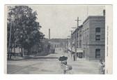 Chicopee Falls, Massachusetts Postcard:  Main Street & Trolley Car