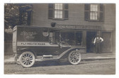 Plymouth, Massachusetts Real Photo Postcard:  Stevens Flower Shop and Old Delivery Truck