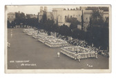 San Diego, California Real Photo Postcard:  Naval Training Camp Parade
