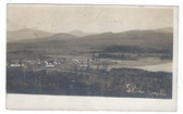 Skinner's Mills, Maine Real Photo Postcard:  Overview of Village & Sawmill