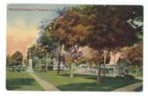 Plaistow, New Hampshire Postcard:  Monument Square & Advertising