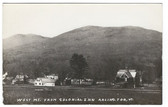 Arlington, Vermont Real Photo Postcard:  Village & West Mountain from Colonial Inn