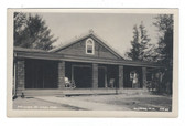 Alstead, New Hampshire Real Photo Postcard:  Pavilion at Villa Pool