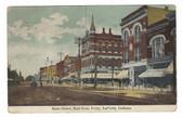 LaPorte, Indiana Postcard:  Main Street, & Ice Cream Soda Sign