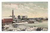 North Anson, Maine Postcard:  North Anson Lumber Company in Winter