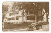 New Vineyard, Maine Real Photo Postcard;  Dr. E. R. Turner Residence & Old Car