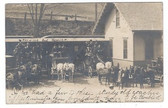 Hanover, New Hampshire Real Photo Postcard:  Train Station & Stage Coaches