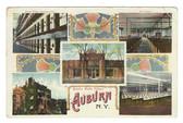 Auburn, New York Postcard:  Five Views of the Auburn State Prison