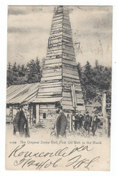 Titusville, Pennsylvania Postcard:  The Original Drake Well, the First Oil Well in the World