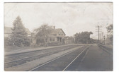 Atkinson, New Hampshire Real Photo Postcard:  Train Station