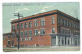 Columbia City, Indiana Postcard:  Masonic Temple